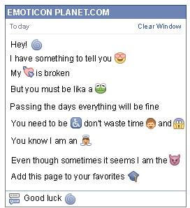 Conversation with emoticon Infinite for Facebook