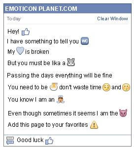 Conversation with emoticon Like for Facebook
