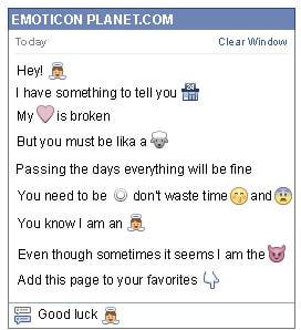 Conversation with emoticon Little Angel for Facebook