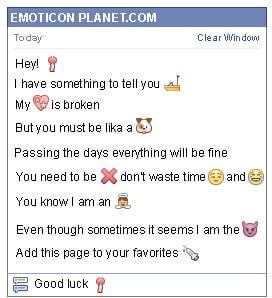 Conversation with emoticon Little Chocolate for Facebook