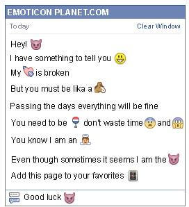 Conversation with emoticon Little Devil for Facebook
