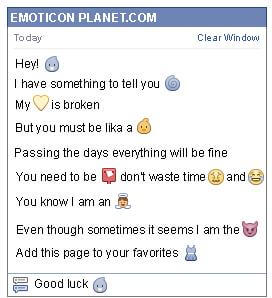 Conversation with emoticon Little Pigeon for Facebook
