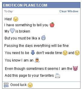Conversation with emoticon Mad for Facebook