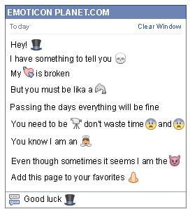 Conversation with emoticon Magician Hat for Facebook