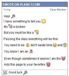 Conversation with emoticon Magnifier Glass for Facebook