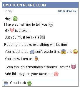 Conversation with emoticon Man and Woman for Facebook