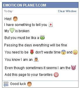 Conversation with emoticon Man Face for Facebook