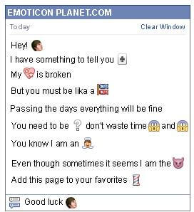 Conversation with emoticon Man for Facebook