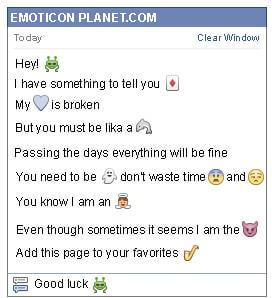 Conversation with emoticon Martian for Facebook
