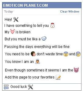Conversation with emoticon Microphone for Facebook