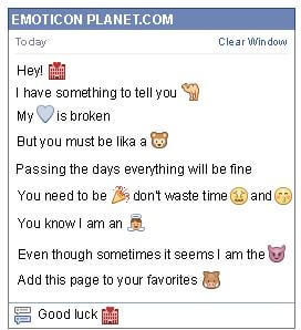 Conversation with emoticon Motel for Facebook