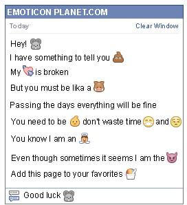 Conversation with emoticon Mouse for Facebook