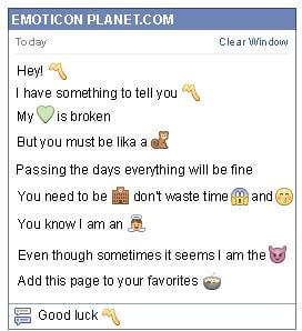 Conversation with emoticon Musical Symbol for Facebook