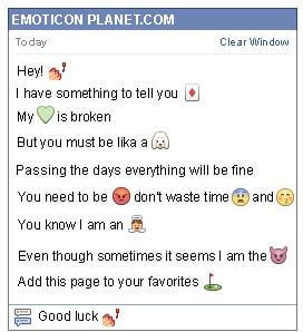 Conversation with emoticon Nail Polish for Facebook