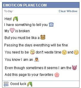 Conversation with emoticon Nature for Facebook