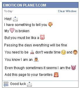 Conversation with emoticon New Email for Facebook