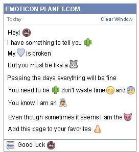 Conversation with emoticon No Smoking for Facebook