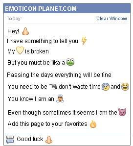 Conversation with emoticon Nose for Facebook
