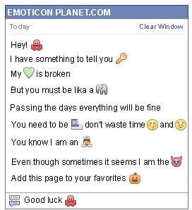 Conversation with emoticon Octopus for Facebook