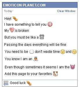Conversation with emoticon Oden for Facebook
