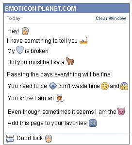 Conversation with emoticon Old Woman for Facebook