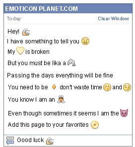 Conversation with emoticon Open a Padlock for Facebook