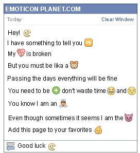 Conversation with emoticon Pacman for Facebook