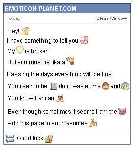 Conversation with emoticon Padlock with Key for Facebook