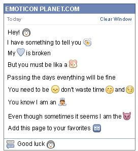 Conversation with emoticon Penguin Face for Facebook