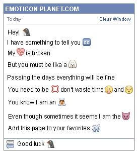 Conversation with emoticon Penguin for Facebook
