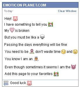 Conversation with emoticon Pig for Facebook