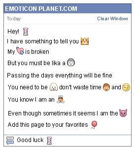 Conversation with emoticon Pillar for Facebook