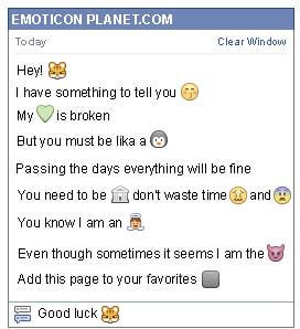 Conversation with emoticon Puss in Boots for Facebook