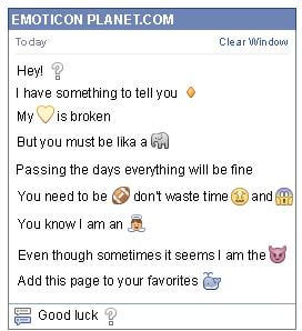 Conversation with emoticon Question Mark for Facebook