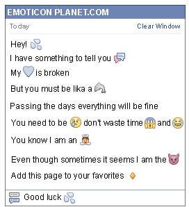 Conversation with emoticon Rain for Facebook