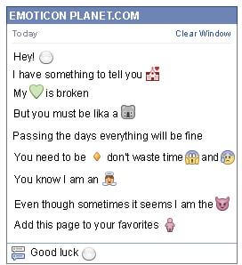 Conversation with emoticon Rice Place for Facebook