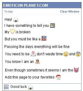 Conversation with emoticon Rice for Facebook
