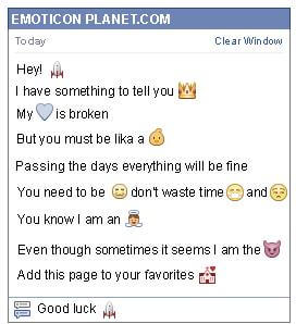 Conversation with emoticon Rocket for Facebook