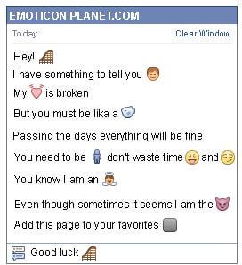 Conversation with emoticon Roller Coaster for Facebook