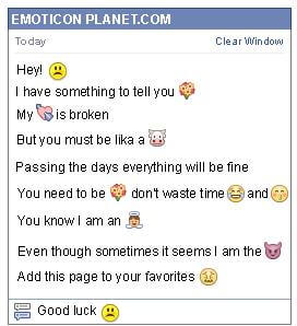 Conversation with emoticon Sad Face for Facebook