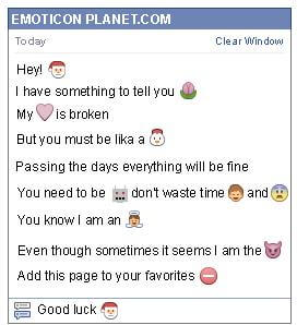 Conversation with emoticon Santa Claus for Facebook