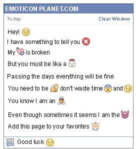 Conversation with emoticon Sarcasm for Facebook
