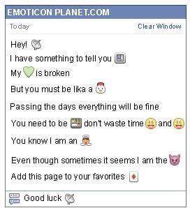 Conversation with emoticon Satellite Antenna for Facebook
