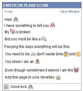 Conversation with emoticon Shark for Facebook