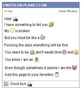Conversation with emoticon Ship for Facebook