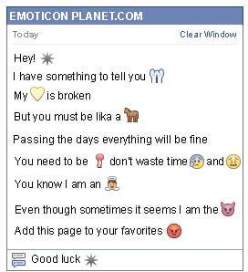 Conversation with emoticon Sign for Facebook