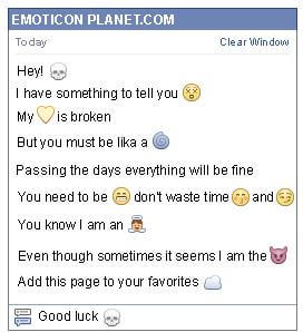 Conversation with emoticon Skull for Facebook