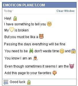 Conversation with emoticon Small Cactus for Facebook