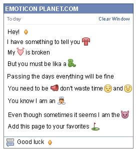 Conversation with emoticon Small Gold Rhombus for Facebook