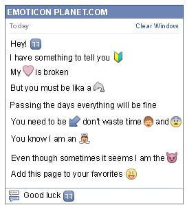 Conversation with emoticon Small Windows for Facebook